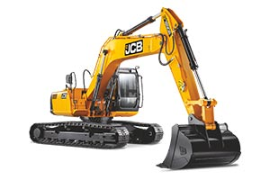 JCB tracked excavator for well digging